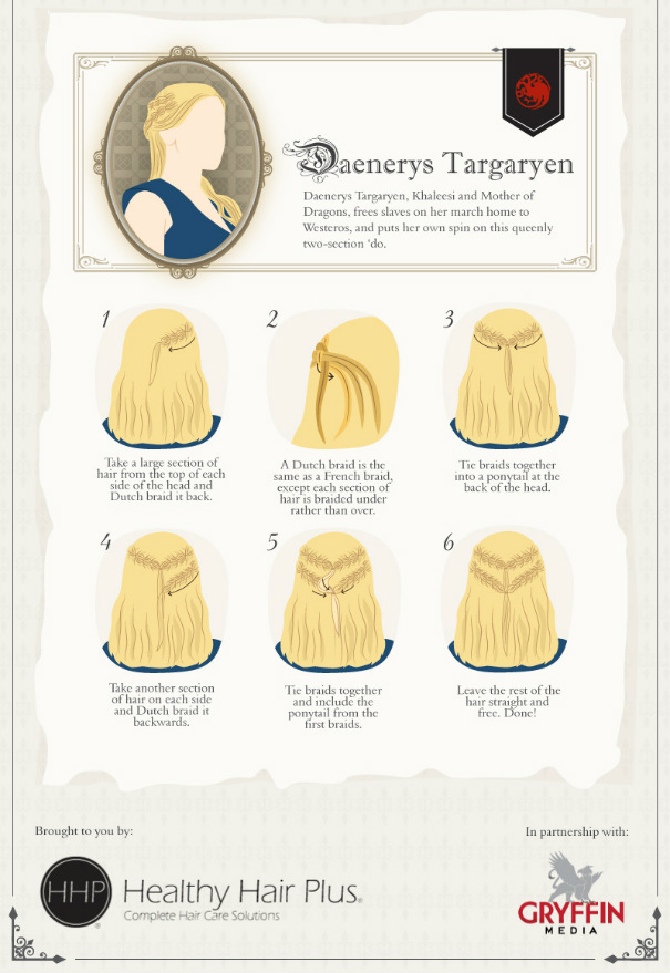 Daenerys Targaryen Hair Tutorial #GoT #GameofThrones #hairstyle #khaleesi #daenerys