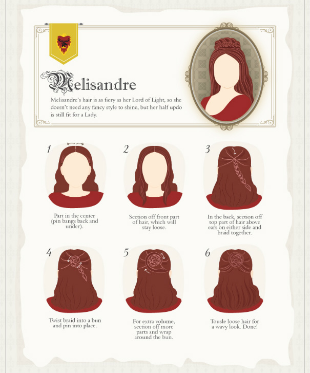 Melisandre Hair Tutorial #GoT #GameofThrones #hairstyle
