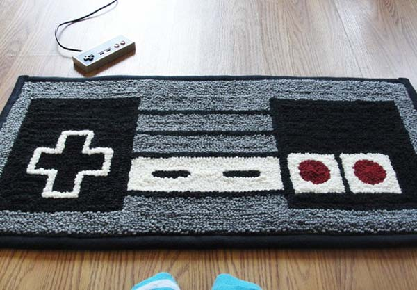 Nintendo Carpet (Featured on pinkmitten.com) #geekrugs #geekhhome