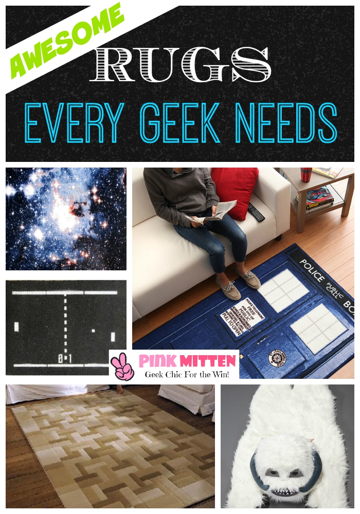 Awesome Carpets and Rugs Every Geek Needs @pink_mitten #geekrugs #geek #geekhome