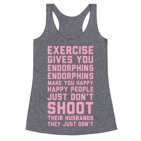 """""""Exercise Gives You Endorphins"""" workout clothes. Featured on pinkmitten.com #workoutclothes #exerciseclothes #legallyblonde"""