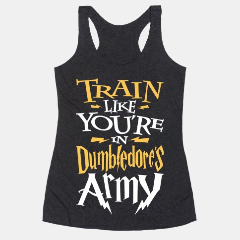 """""""TRAIN LIKE YOU'RE IN DUMBLEDORE'S ARMY"""". Featured on pinkmitten.com #workoutclothes #exerciseclothes #dumbledore #harrypotter"""