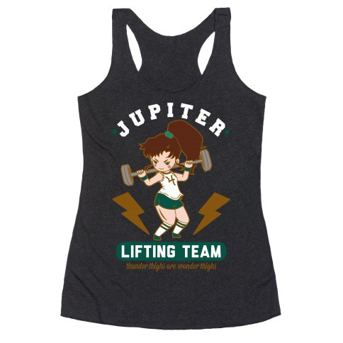 """""""Jupiter Lifting Team Thunder Thighs are Wonder Thighs"""" Sailor Moon workout clothes. Featured on pinkmitten.com #workoutclothes #exerciseclothes #sailormoon"""