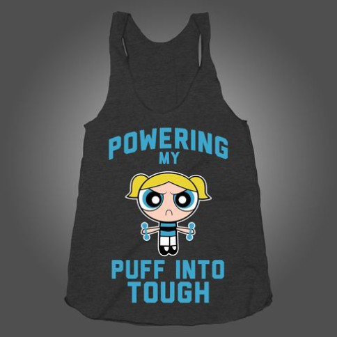"""""""Powering my Puff into Tough"""" Powerpuff workout clothes. Featured on pinkmitten.com #workoutclothes #exerciseclothes #powerpuff"""