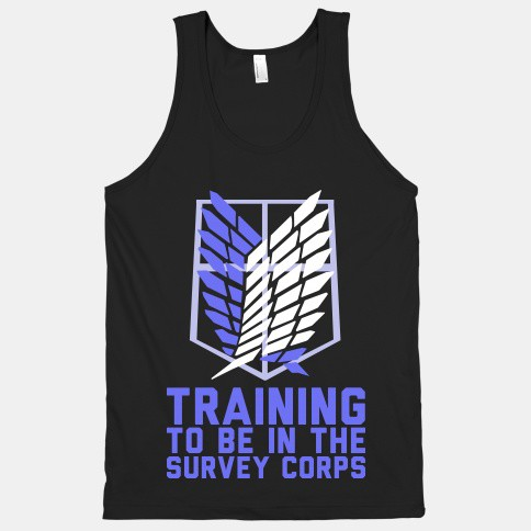 Survey Corps Attack on Titan Workout shirt. Featured on pinkmitten.com #workoutclothes #exerciseclothes #attackontitan
