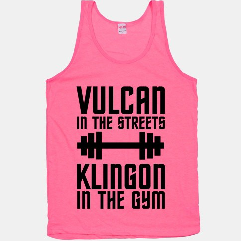 KLINGON IN THE GYM workout clothes. Featured on pinkmitten.com #workoutclothes #exerciseclothes #startrek