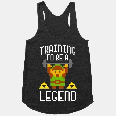 """Training to be a Legend"" Legends of Zelda workout clothes. Featured on pinkmitten.com #workoutclothes #exerciseclothes #legendsofzelda"