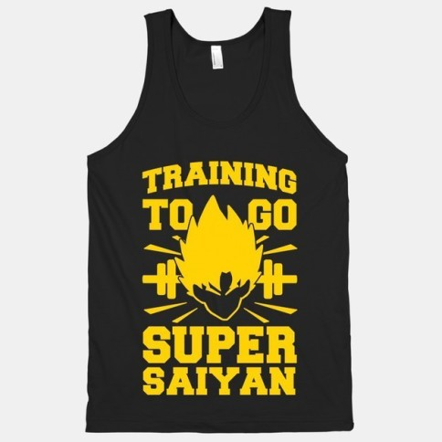 """Training to go Super Saiyan"" exercise clothes. Featured on pinkmitten.com #workoutclothes #exerciseclothes #dragonball"