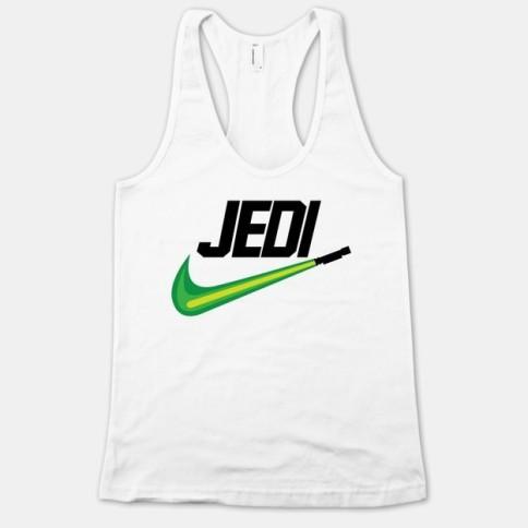 Jedi workout clothes . Featured on pinkmitten.com #workoutclothes #exerciseclothes #starwars #jedi