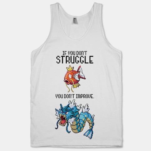 """If you don't struggle"" Pokemon workout clothes. Featured on pinkmitten.com #workoutclothes #exerciseclothes #pokemon"