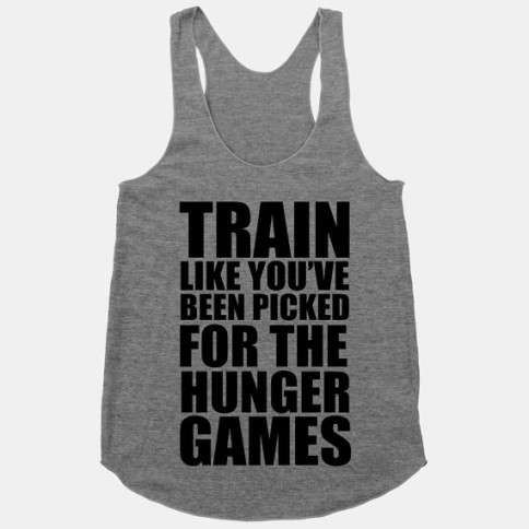 Hunger Games workout clothes. Featured on pinkmitten.com #workoutclothes #exerciseclothes #hungergames