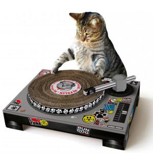 Cat DJ Scratching Deck