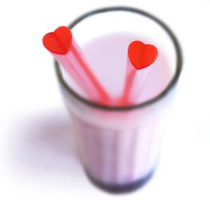 Heart-shaped straws