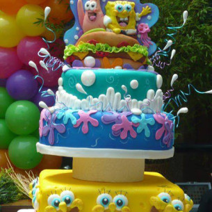 SpongeBob Wedding Cake