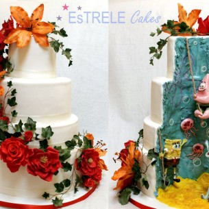 SpongeBob Elegant Wedding Cake