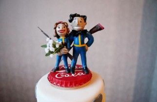 Fallout Wedding Cake Topper