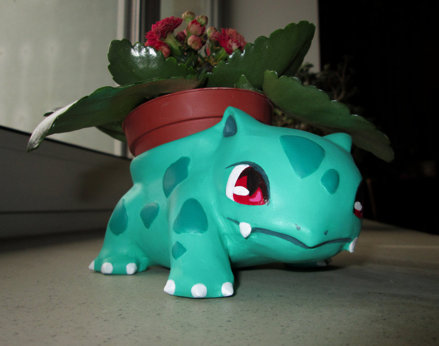 Bulbasaur Pokemon Garden Pot as featured on @pinkmitten. #gardenpot #flowerpot #plantpot #Pokemon #bulbasaur
