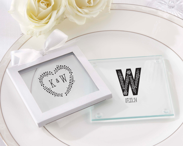 Coasters make for gorgeous wedding favors! As featured on @pinkmitten.com #weddingfavor #weddingcoasters