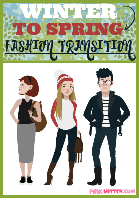 Winter to Spring Fashion Transition - Step by Step Guide @pinkmitten.com #wintertospring #fashion