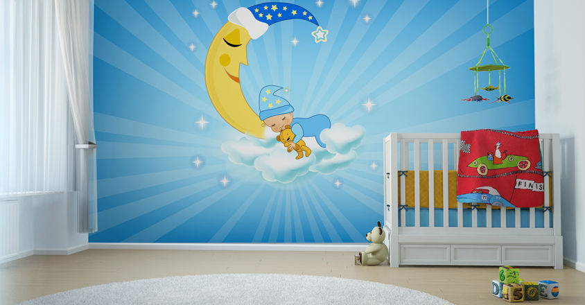 Dream Nursery with wall murals