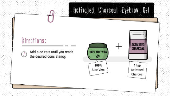 Activated Charcoal Eyebrow Gel - 5 Surprising Beauty Uses for Activated Charcoal. With recipes! pinkmitten.com #beauty #charcoal #DIY #organic #eyebrows #makeup