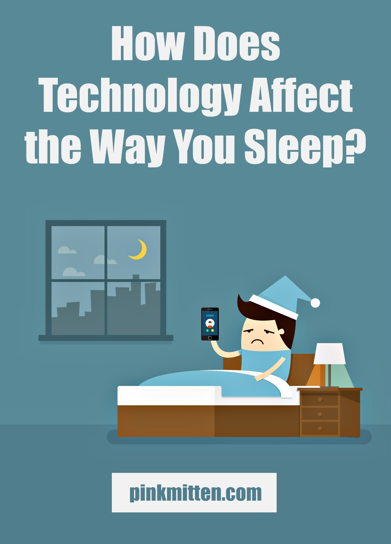 How does technology affect the way you sleep? See here and fix your bad habits! pinkmitten.com #sleep #technology #health